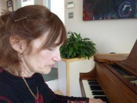 Leya Evelyn, an Abstract Painter, Takes Adult Piano Lessons