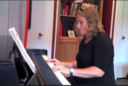 Jennifer Savitch plays two beginner songs.