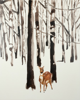 Deer_in_Snow_Forest_Annika_Connor